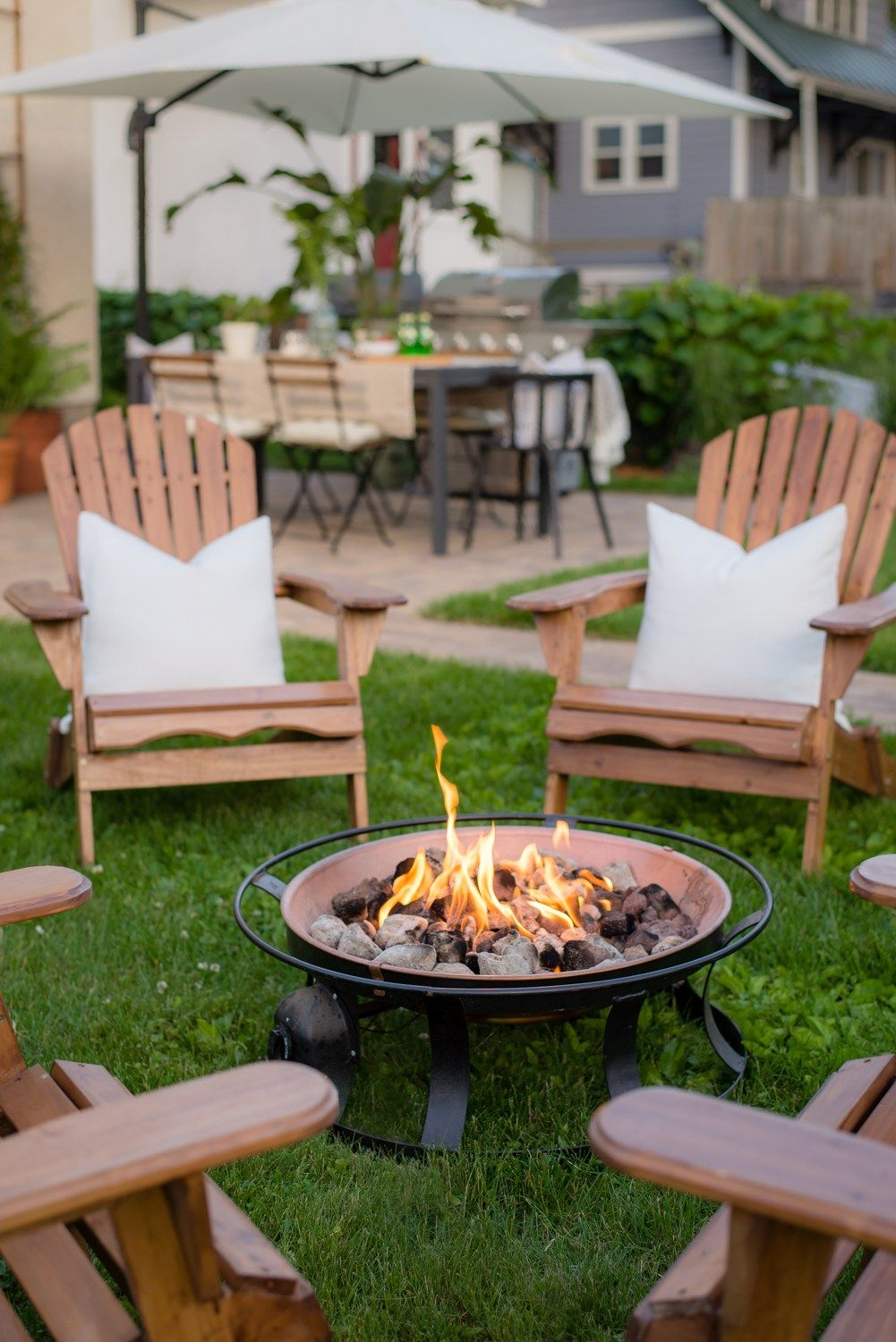 Backyard Redesign Before After Reveal Fire Pit Backyard Fire