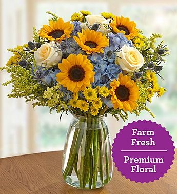 Nothing Gets More Beautiful Than A Bouquet Of Sunflowers Roses Hydrangeas Picked Straig Flower Arrangements Simple Sunflower Arrangements Pretty Flowers