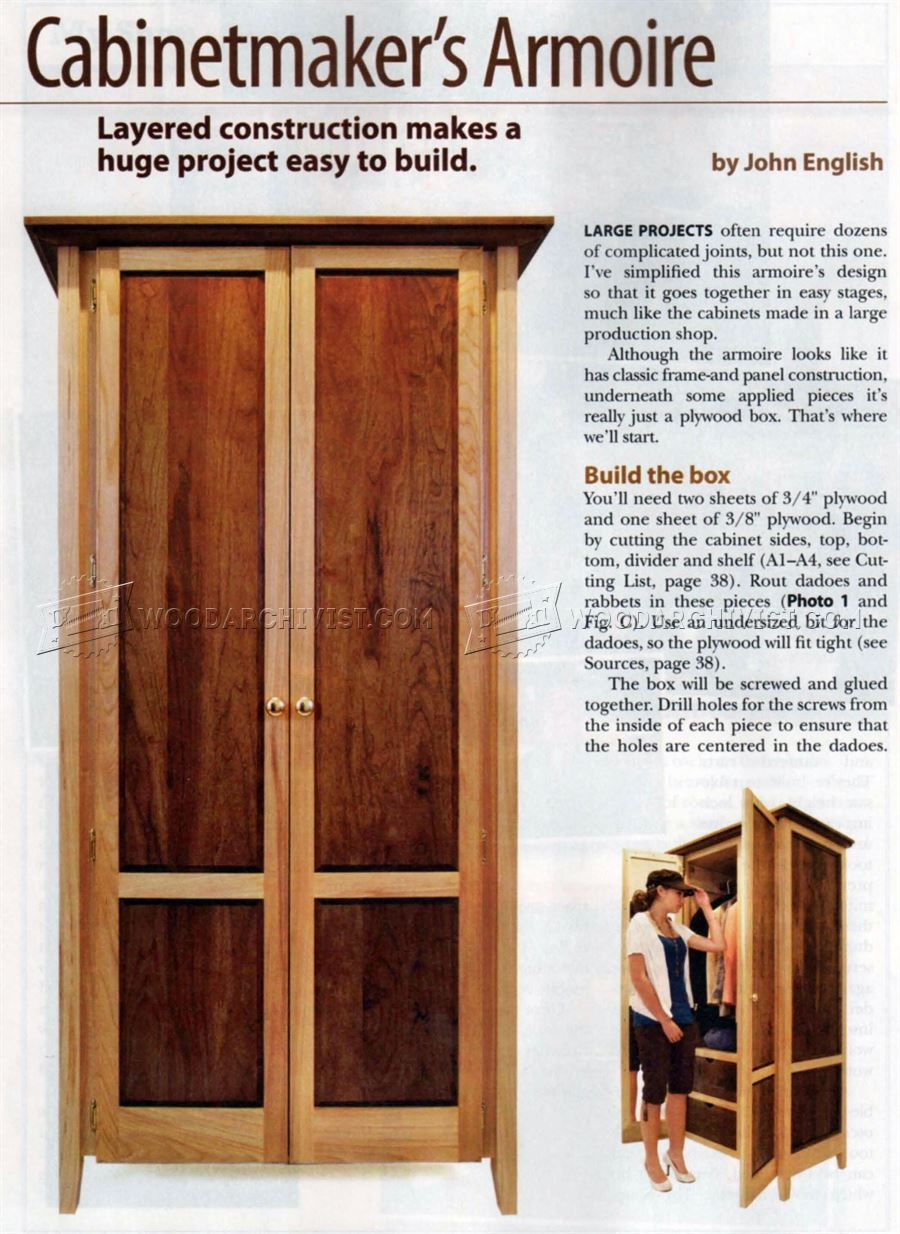 Attirant #3089 Build Armoire   Furniture Plans