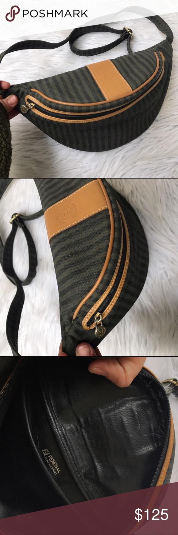 f970cfb5772f FENDI LEATHER FANNY PACK BAG AUTHENTIC BAG Super cute vintage GUCCI fanny  pack ✨ Fendi Bags