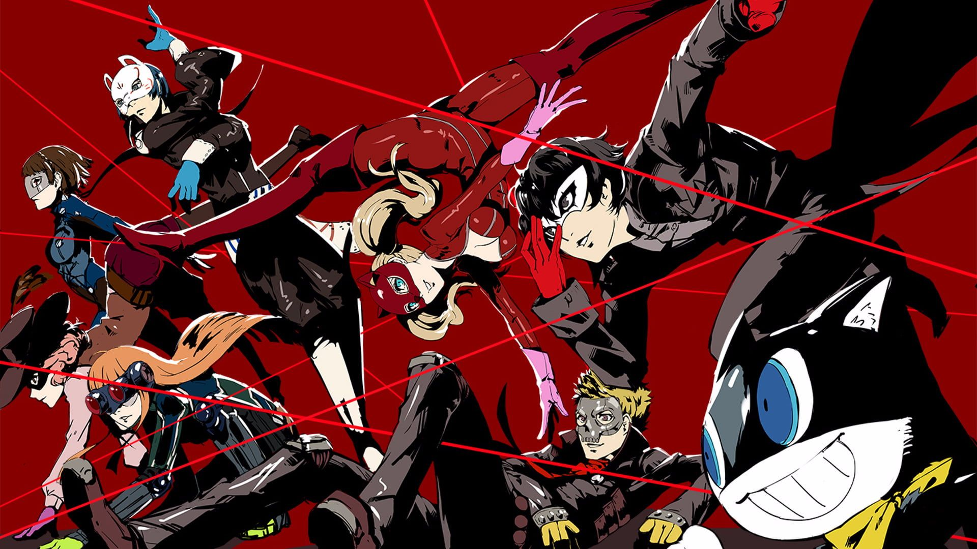 Anime Characters Digital Wallpaper Persona 5 Persona Series Phantom Thieves 1080p Wallpaper Hdwallpaper Desktop Persona 5 Persona 5 Joker Persona