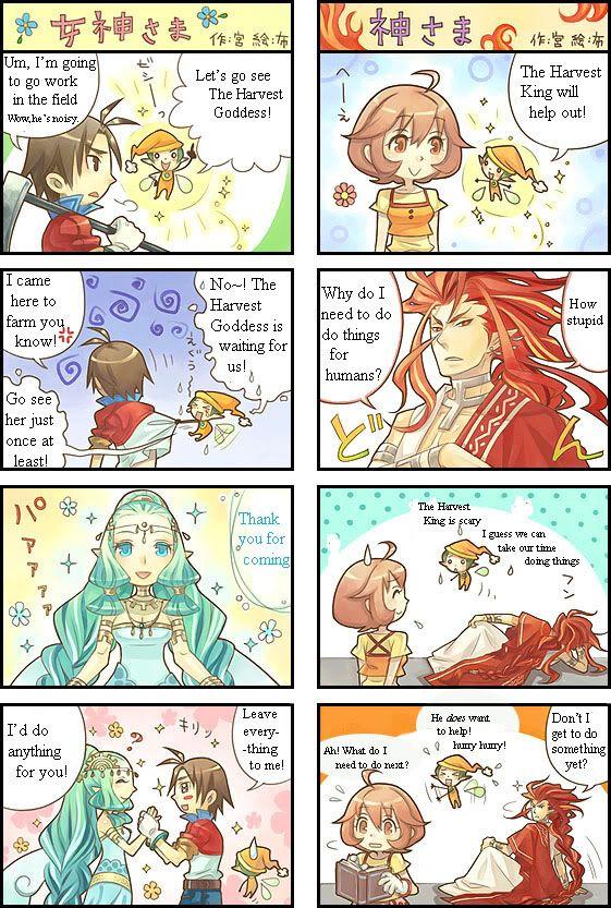 The Harvest Goddess vs The Harvest King Harvest Moon ...