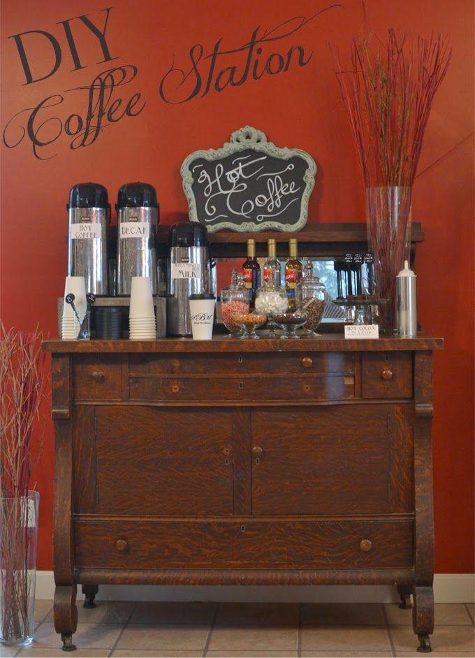 Diy Wedding Reception Coffee Station Dj Peter Weddings Diy