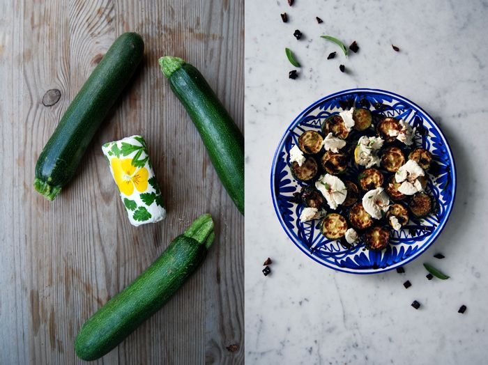 Zucchini, Dried Tomatoes + Chèvre
