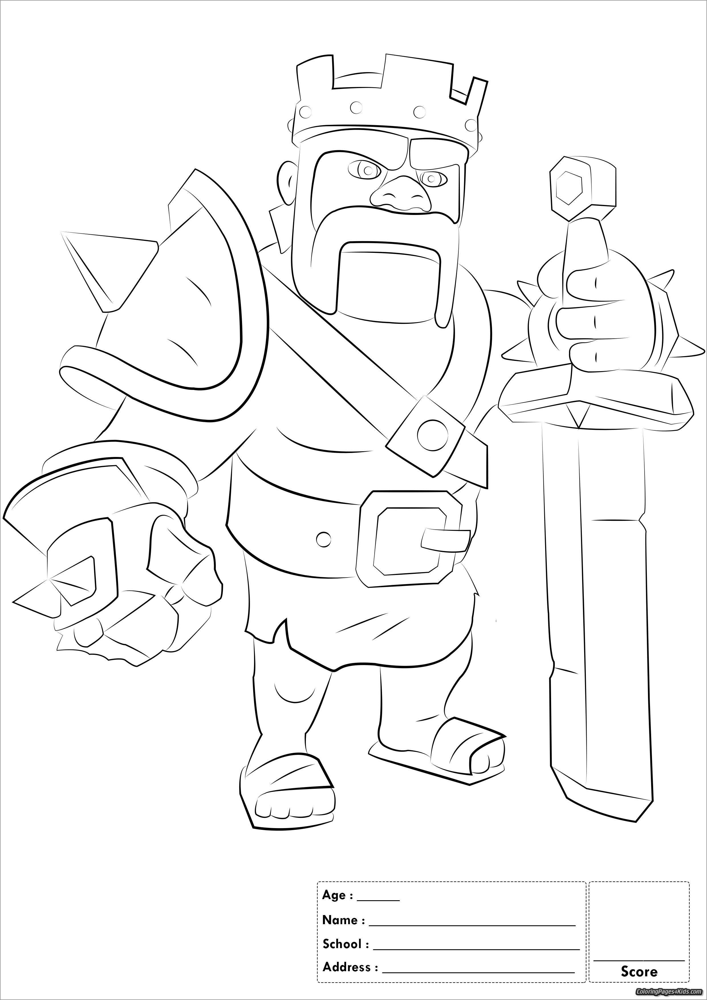 Clash Of Clans Coloring Pages Troops Clash Of Clans Dragon