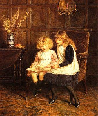 Allingham, Helen (1848-1926) Reading lesson