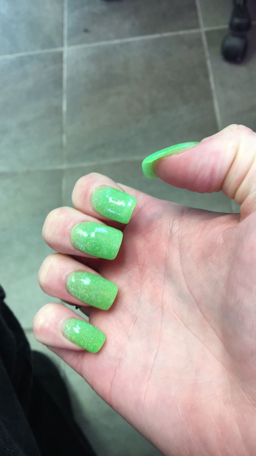 Love my ANC Powder dip acrylics so much! I was growing my nails but ...