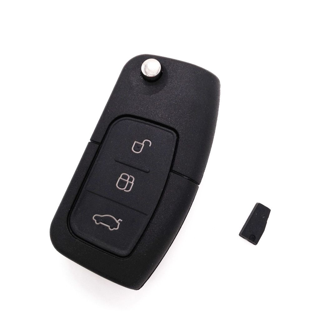Hot Brand New Folding Flip Remote Car Key 3 Button 433mhz For Ford