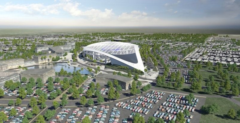Construction Of 2 6 Billion L A Football Stadium Delayed By
