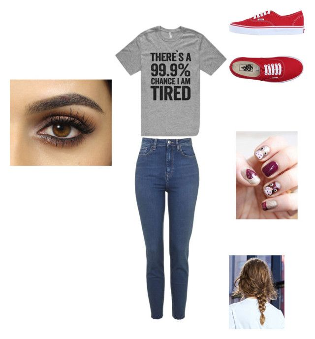 """To tired for school and work"" by honeycuttrebekah ❤ liked on Polyvore featuring Vans"