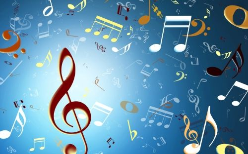 Animated Blue Background Music Note 1280800 Musical Music Note