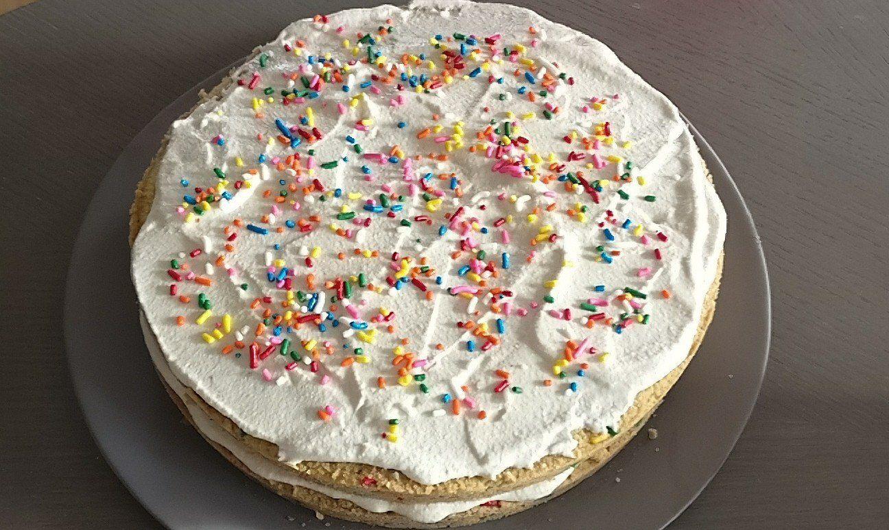 Gluten Free Sugar Keto Funfetti Birthday Cake