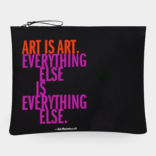 Ad Reinhardt Artist's Quote Pouch ~ I've been on the hunt for a new pencil/pen pouch for my on the go journaling & this one is surging to the top of my list!