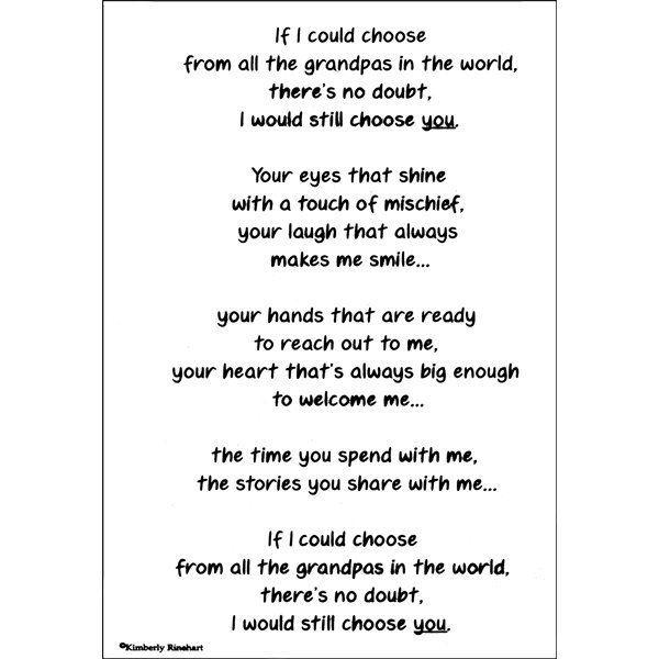grandpa poem from granddaughter - Google Search | Grandpa ...