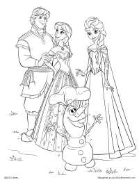 frozen kristoff anna elsa and olaf coloring page and other disney pages