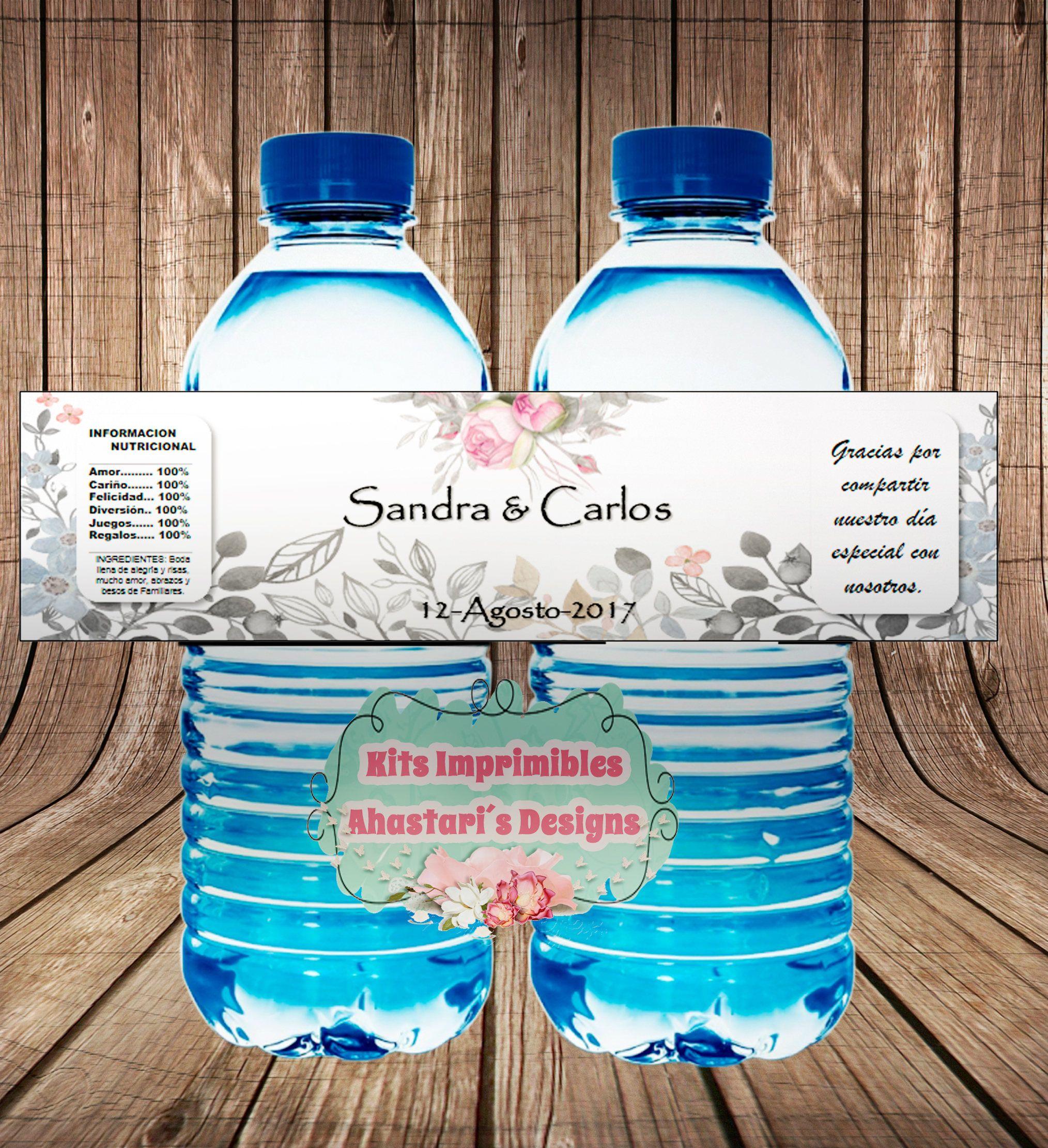 Etiquetas para botellas de Agua BODA (Vestido y Traje) de AhastariDesigns en Etsy