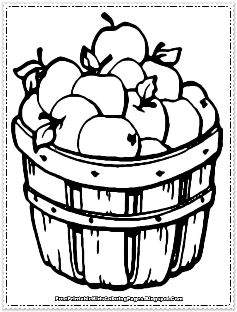 Apple Coloring Pages to Print | ... printable apple coloring pages ...