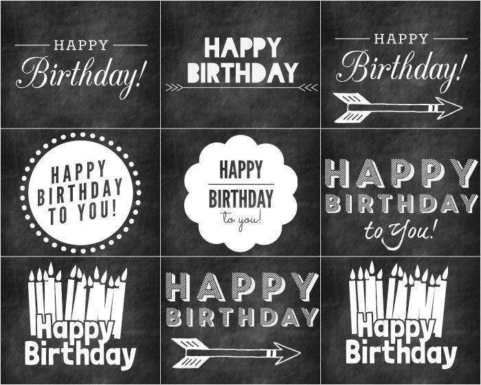 Free Chalkboard Birthday Printables