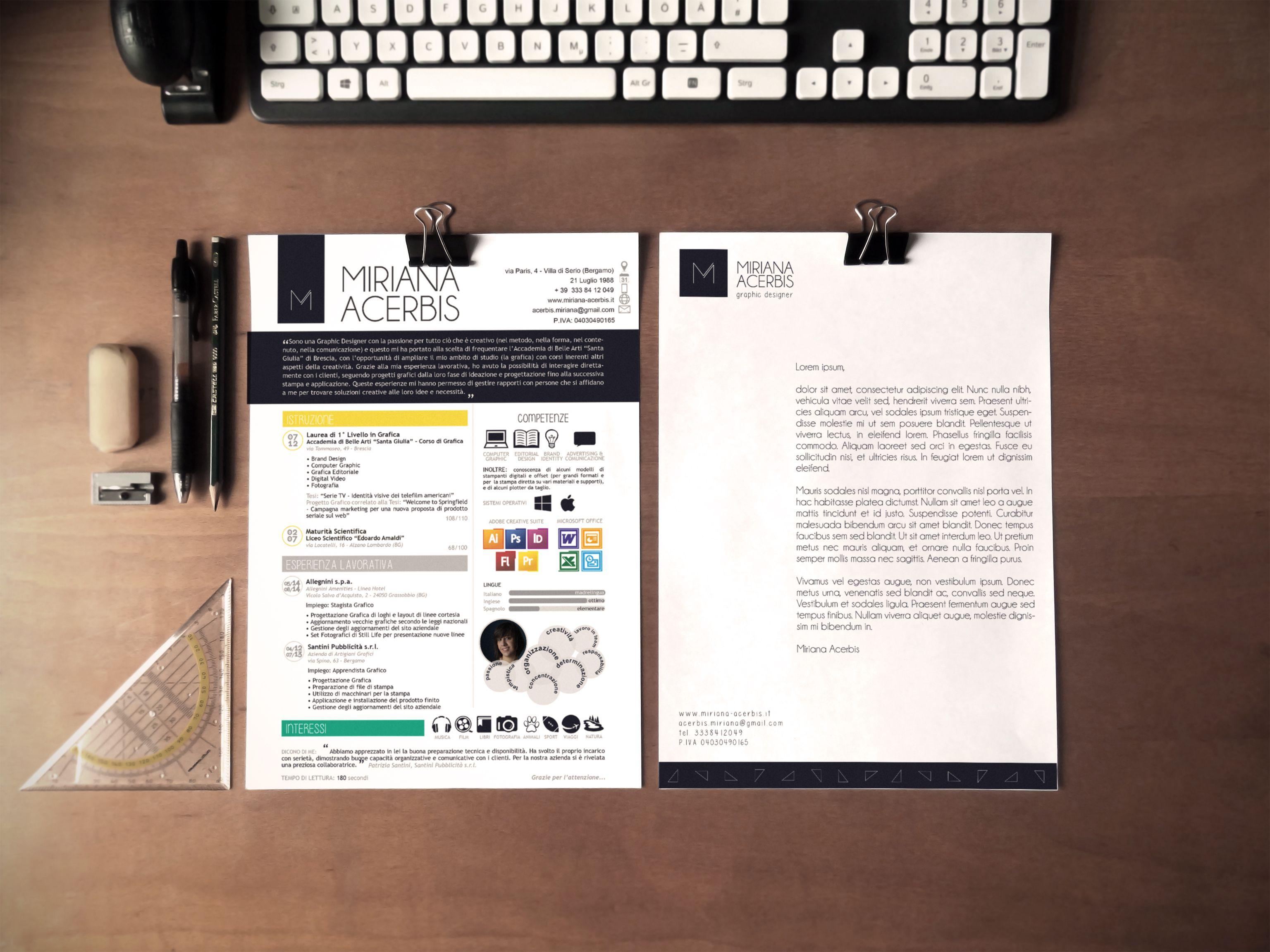Personal Resume And Letterhead For Graphic Designer Curriculum