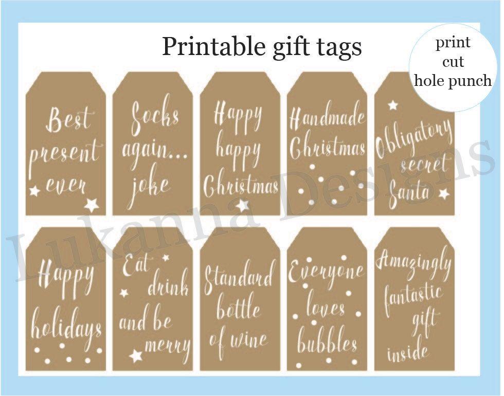 Christmas printable, Christmas tags, Christmas gift, Gift tag - christmas tag template