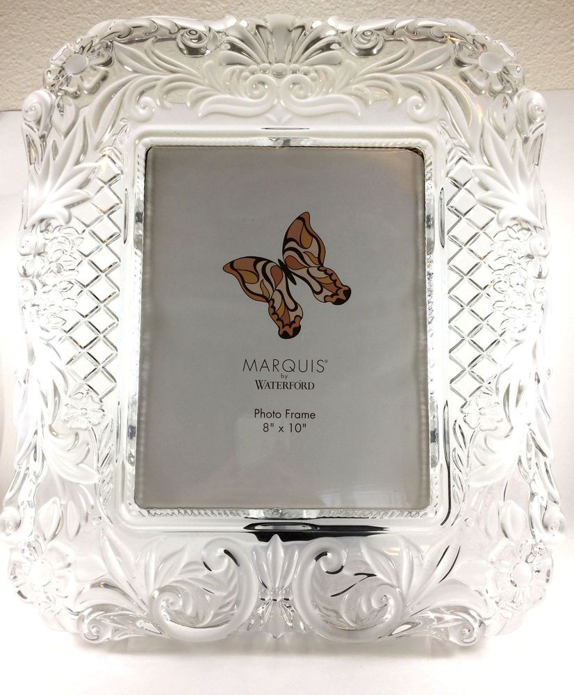 Waterford Crystal 8 X 10 Marquis Picture Frame In Box Whatever