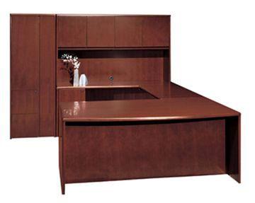 Ceo Office Desk And Credenza Cherryman From Jerrys Office
