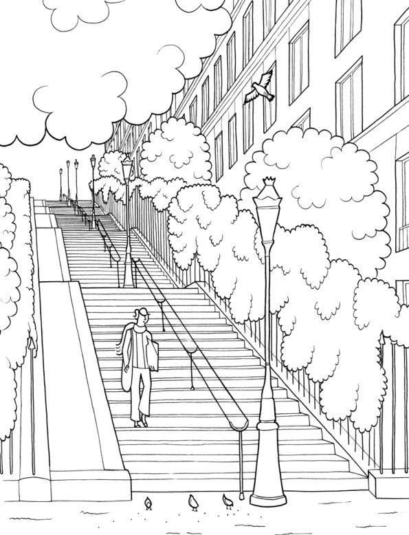 Kids N Fun Com 29 Coloring Pages Of Cities City Drawing Perspective Drawing Lessons Cool Coloring Pages