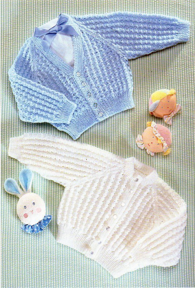 53e297b2d Baby cardigan knitting pattern pdf 4ply baby jacket 16-22