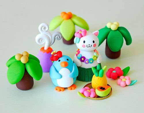 Sweet clay figurines by afsaneh tajvidi for decoration kids room