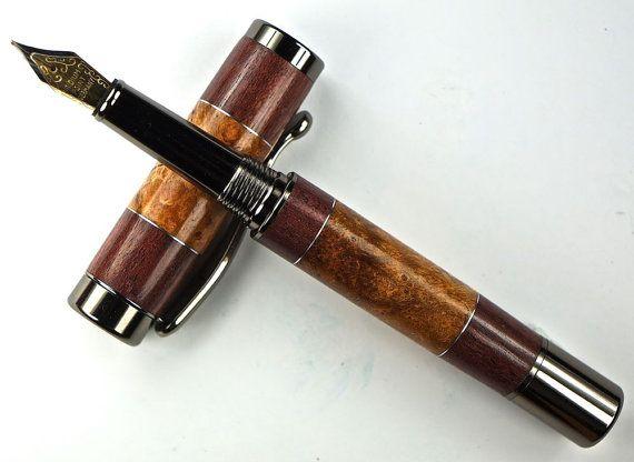 Wooden Pen Hand Turned Fountain Pen Beautiful by MikesPenTurningZ, $109.00