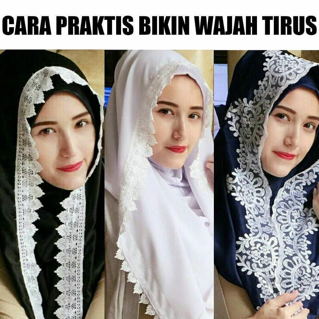HIJABDIVAA Hijab Instan Renda Bordir Tanpa Jarum Tanpa Peniti