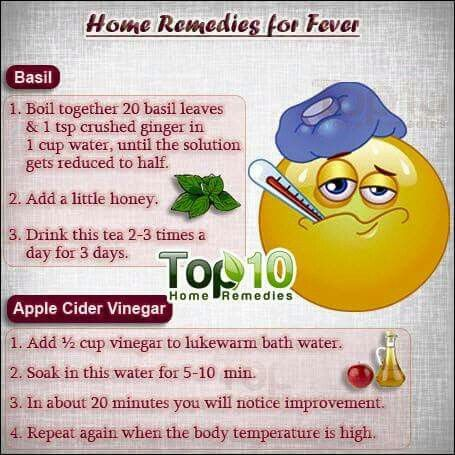 fever home remedies