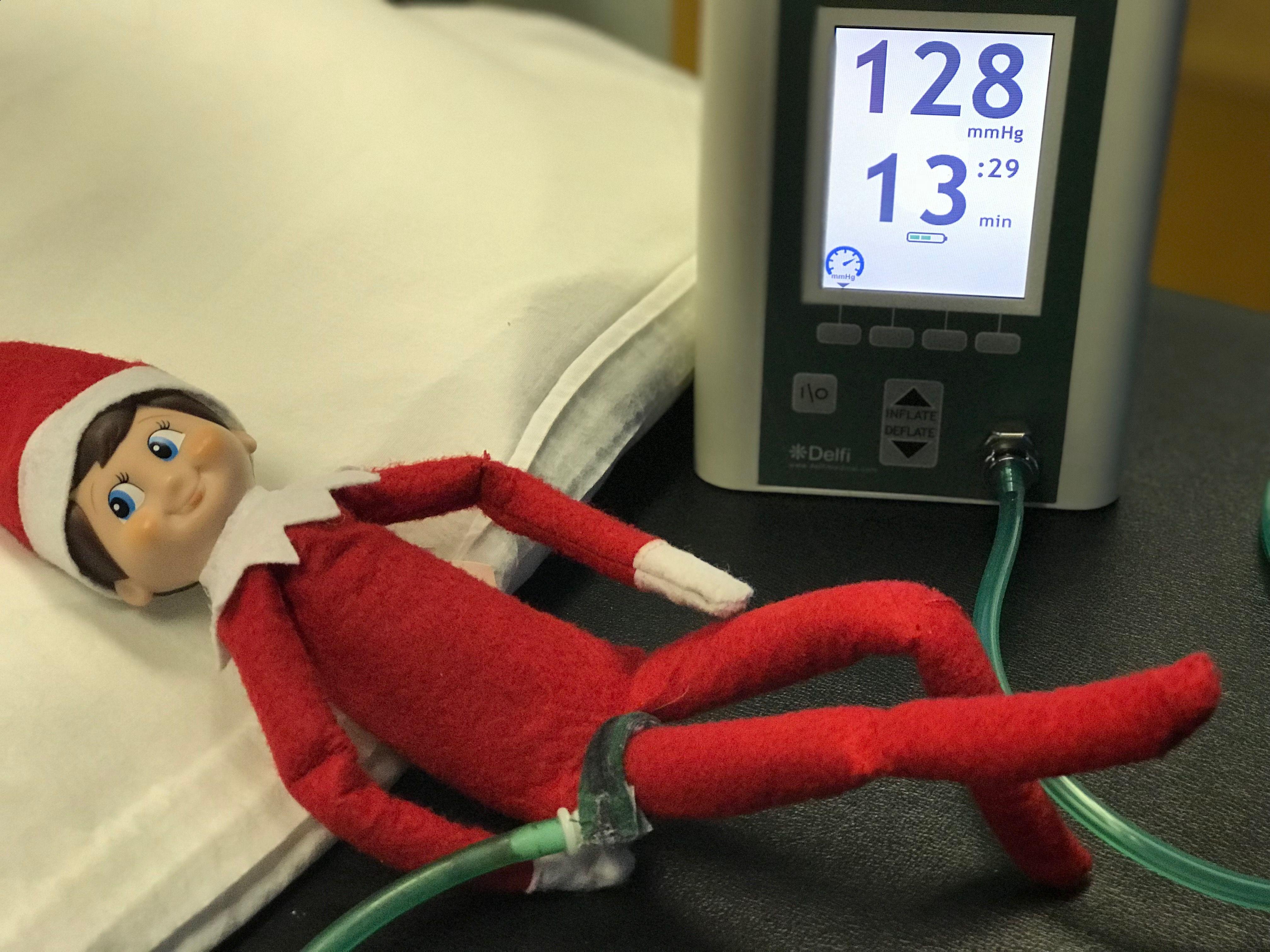 Elf on a shelf rehab with blood flow restriction rehab