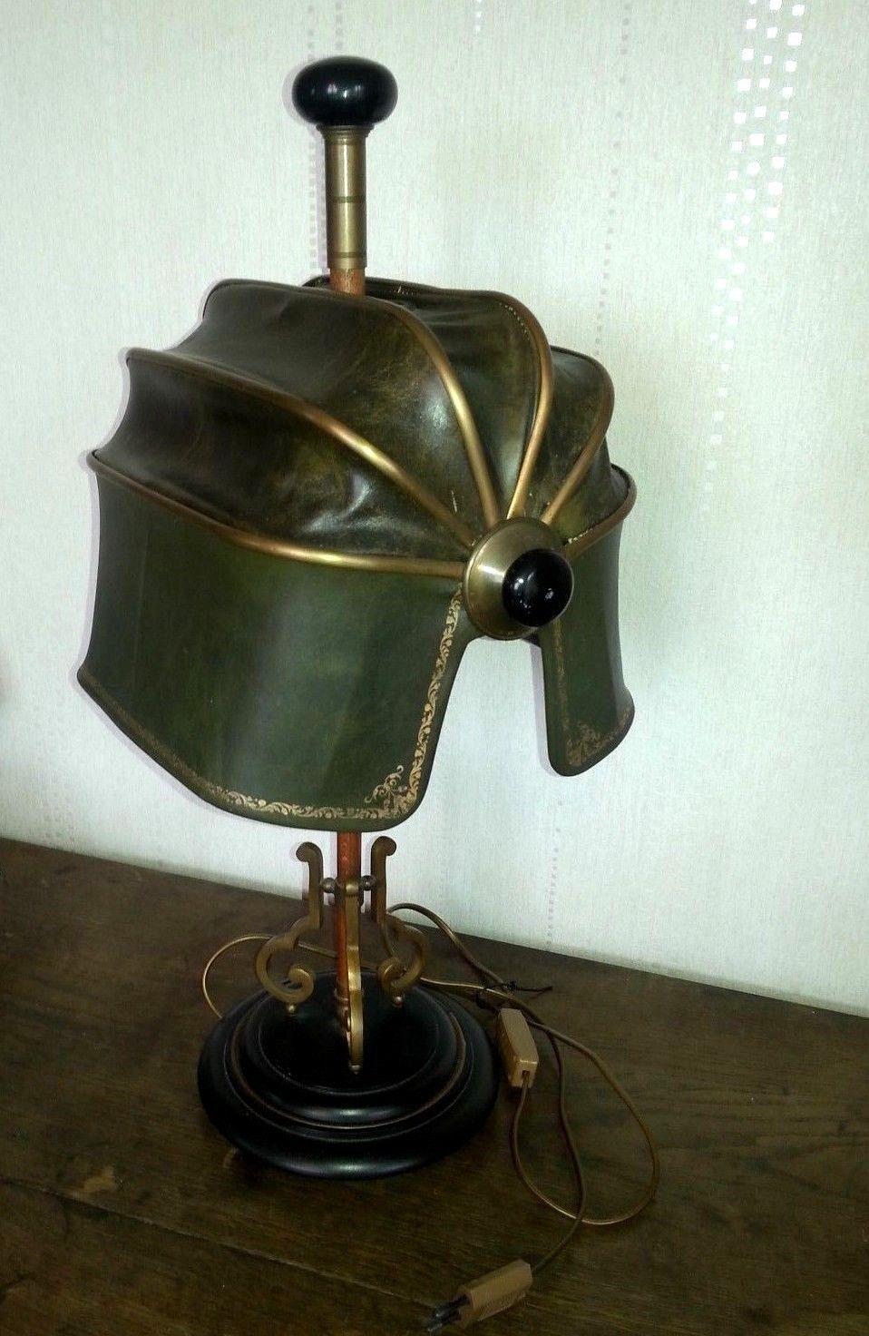 Lampe De Bureau Notaire Avocat Cuir Metal Bois No Jielde