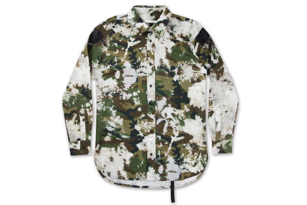 bf532d3ac9ba3 Off-White c/o Virgil Abloh Bleached Oxford Patches Shirt - Camouflage