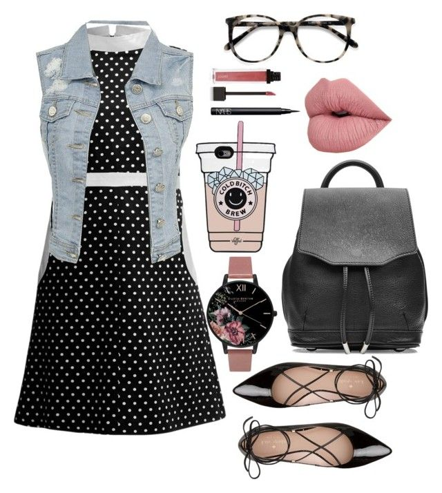 """""""On the Dot"""" by ynegronivelez ❤ liked on Polyvore featuring Rumour London, Ace, Kate Spade, NARS Cosmetics, Jouer, Olivia Burton and rag & bone"""