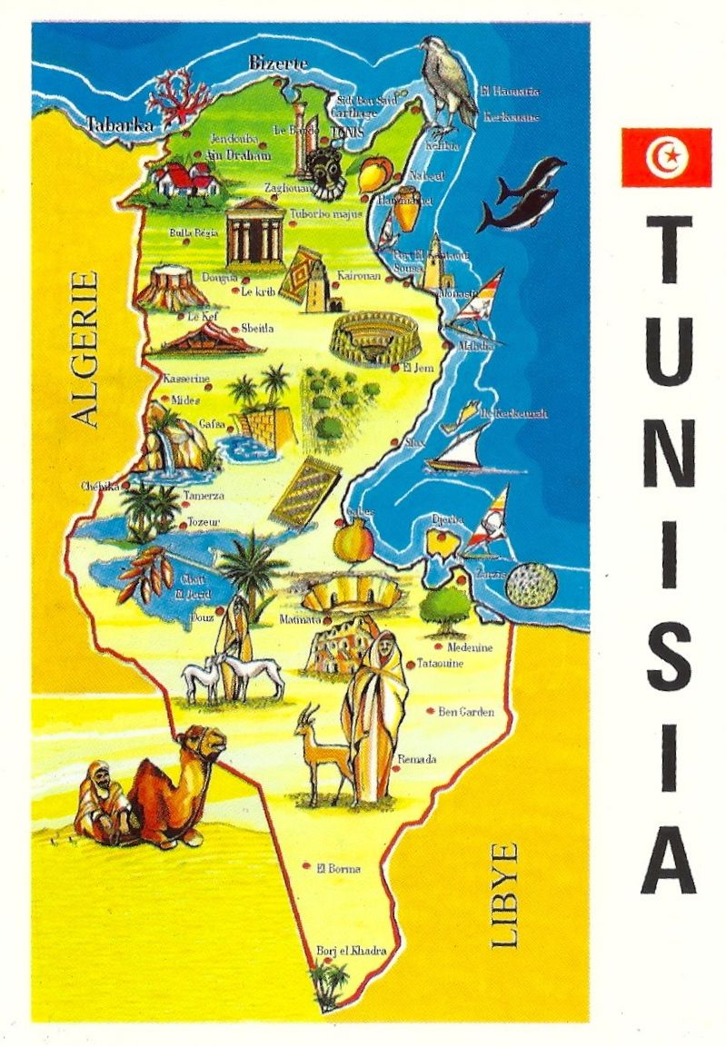 Tunisia Map Tunisia Map Map Tunisia