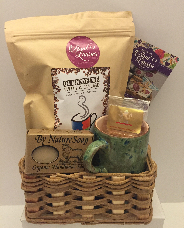 Handmade Unique Gift Baskets Auntlauries Com Unique Gift Baskets Small Coffee Gifts Gift Baskets
