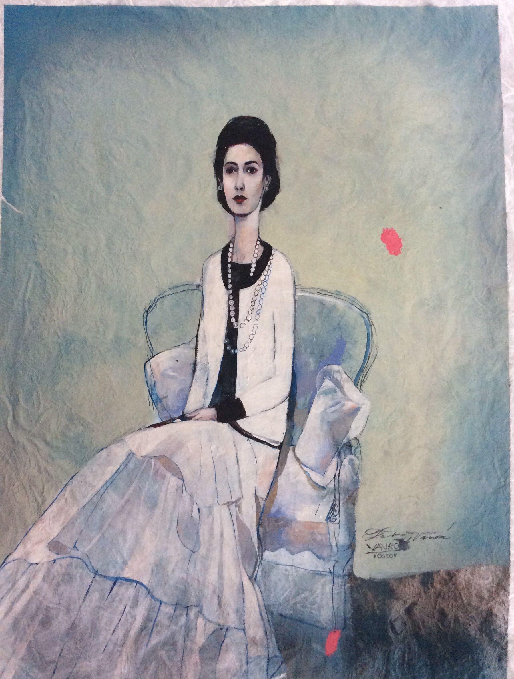 Katarína Vavrová/ Coco / painting on japan paper
