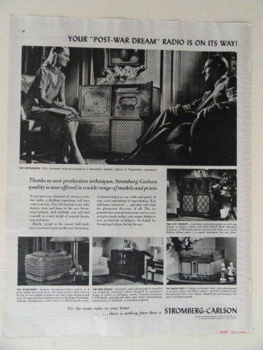 Stromberg-Carlson Radio. 40's full page print ad. (woman,... http://www.amazon.com/dp/B006AD0JEI/ref=cm_sw_r_pi_dp_2KKuxb16FZ08E