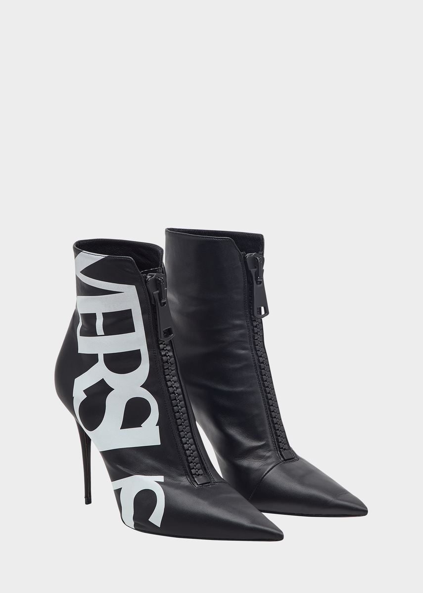 6d8f1344fbf Versus Logo High Heel Eco Leather Boots from Versus Versace Women's ...