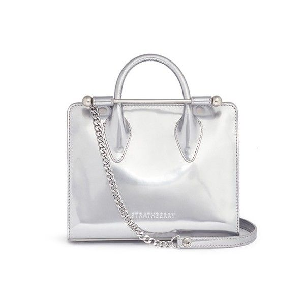 White Purses Strathberry The Nano Mirror Patent Leather Tote 66055 Rsd Liked On