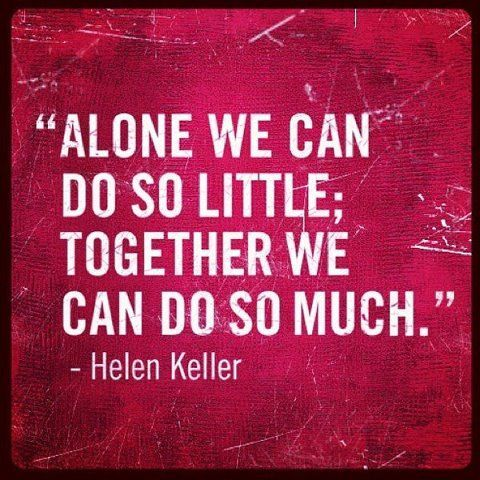 Alone we can do so little together we can do so much helen inspirational picture helen keller quotes sayings teamwork together find your favorite picture thecheapjerseys Gallery