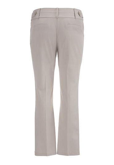 the smart plus size trouser in khaki with slimming fit - maurices