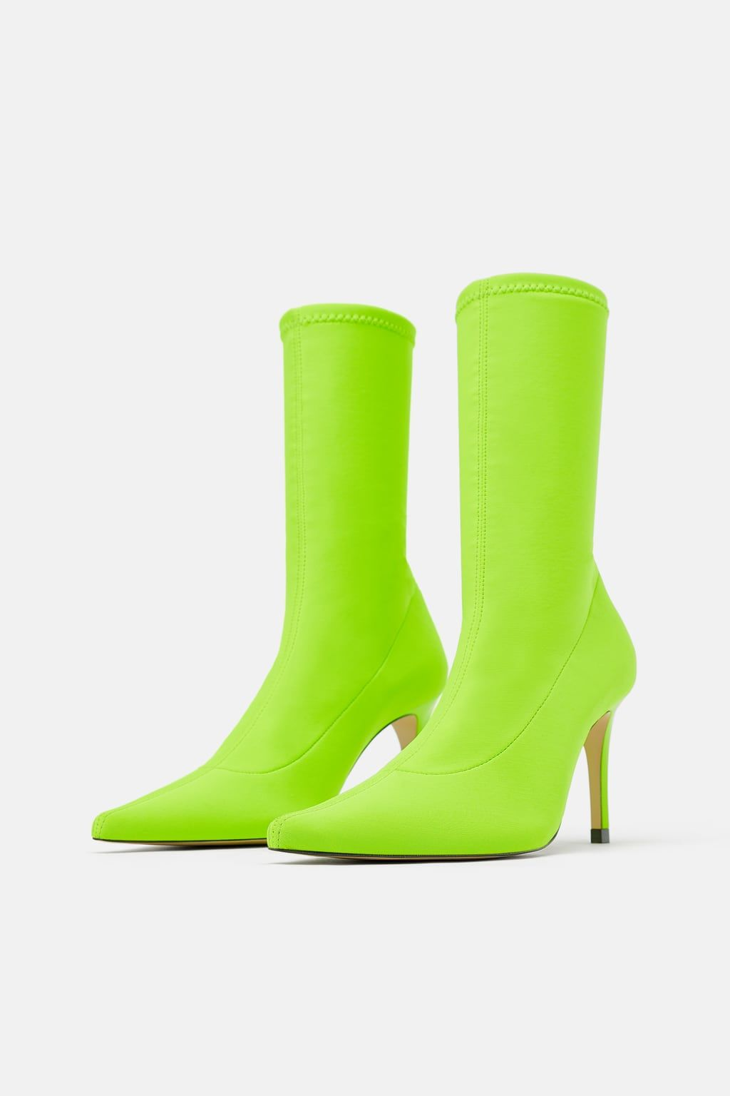 209247a8f6 Neon sock-style heeled ankle boots in 2019 | January 19 Wishlist ...