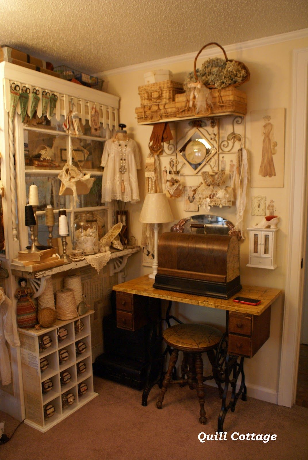Quillcottage Blog Old Sewing Machine Decorate