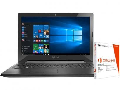 "Notebook Lenovo G50 Intel Core i3 - 4GB 1TB LED 15,6"" + Pacote Office 365 com as…"
