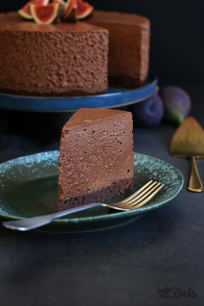 Brownie Double Chocolate Mousse Kuchen | Bake to the roots