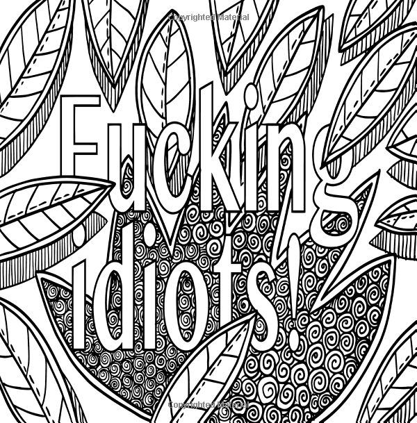 Amazon.com: Sit the F*ck Down and Color: Stress Relieving ...