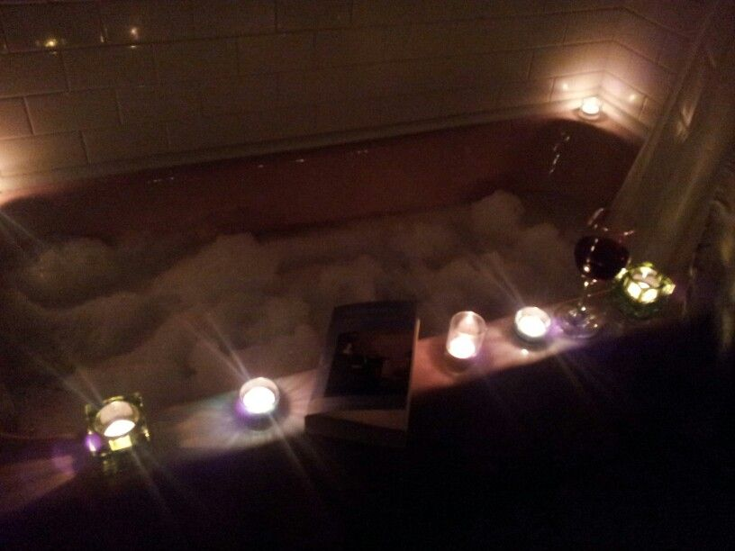 An amazing bubble bath w some great lavender n chamomile bath salts a great book some light classical music w a glass of wine...does life get better than this lol
